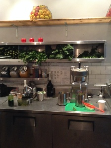 "Nutrifaster-style juicer at Grass Roots Juicery in Brooklyn, located at the Graham subway station on the ""L train"" in Williamsburg, Brooklyn"