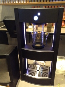 New pressurized tea brewers at Teavana take 1/3 of the time of a traditional tea brewer so they can serve you and be out the door in about a minute or a minute and a half (rather than waiting 4 minutes for your tea to steep)... very cool.