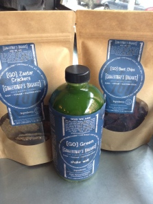 Gingersnaps Organic wins my award for currently the BEST LOW-GLYCEMIC ORGANIC GREEN JUICE. Hands down. They also have awesome dehydrated foods like crackers and chips. Perfect combination.